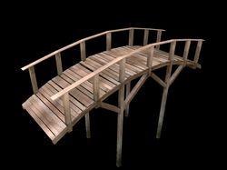 3d модель моста для VR игры.