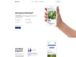 """Верстка сайта аграрного сообщества """"HawkAi"""""""