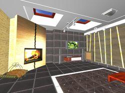 Дизайн каминной комнаты