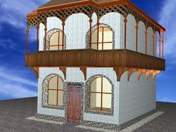 Дизайн фасада грузинского кафе