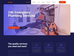 Адаптивная вёрстка сайта Plumbing Services