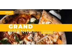 Адаптивная верстка landingPage Pizzeria