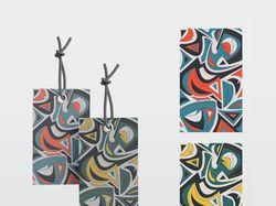 Бирка для бижутерии в абстрактном стиле