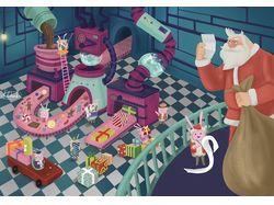 Santa's magic factory