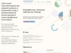 Разработка сайта Vdovenko.design