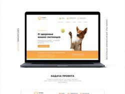 Vetdogtor — Landing page (Design by Maxim Corfu)