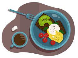 Иллюстрация Завтрак
