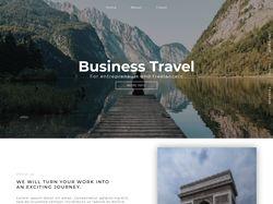 Адаптивная вёрстка landing page Business Travel