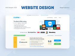 Top 10 VPN - Дизайн сайта