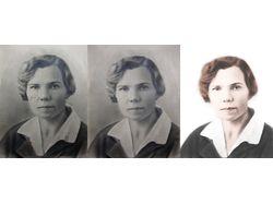Поэтапное реставрирование фотографии 20-х годов