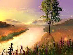 """Пейзаж """"Рассвет"""""""