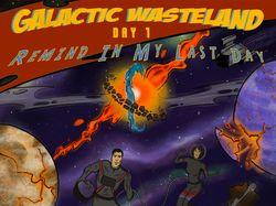 Арт в стиле комикс-дизайн GALACTIC WASTELAND