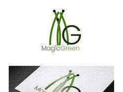 Логотип фермы по выращиванию микрозелени