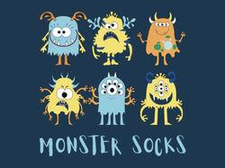 """Дизайн упаковки для носков «Monster Socks"""""""