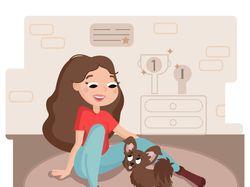 Иллюстрация Мой щенок