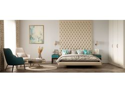 Визуализация спальни для большой семьи