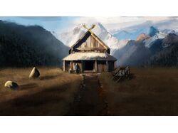 Digital Art - Дом в горах