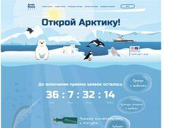 """Адаптивная верстка лендинга """"Arctic Russia"""""""