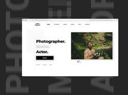 Concept. Personal website_MS_Photographer