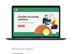 Дизайн сайта для рекрутингового агенства