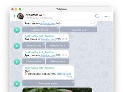 Разработка телеграм бота для аукциона