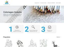 Редизайн гл. страницы сайта детских раскрасок