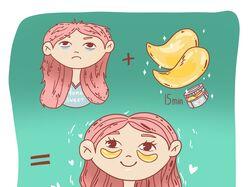 Иллюстрация для рекламы косметической продукции