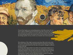 Лендинг галереи работ Ван Гога