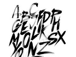 Ручные шрифты, алфавит (4 шт)