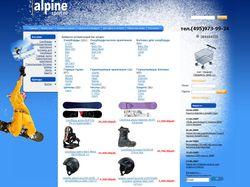 Дизайн и верстка для сайта alpinesport.ru