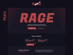Дизайн сайта игрового проекта ragemta.ru