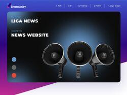 Примеры работ: Дизайн новостного портала