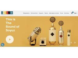 Сайт для компании профессиональных микрофонов