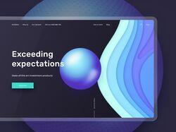 Дизайн сайта инвестиционного приложения