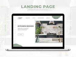 Дизайн концепт Лендинга для студии дизайна кухонь