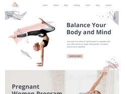 Адаптивная верстка сайта на тему йога