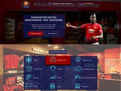 "Дизайн лендинга ""Manchester United store"""