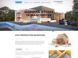 "Дизайн лендинга ""Modular Houses in Manchester"""