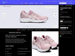 "Дизайн интернет магазина ""Sneaker store"""