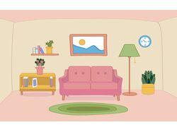 Иллюстрация гостиной