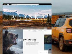 Редизайн сайта   ALASKA TRIP  