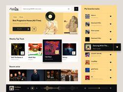 Дизайн приложения по прослушиванию музыки