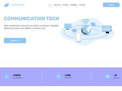 Многостраничный сайт компании связи