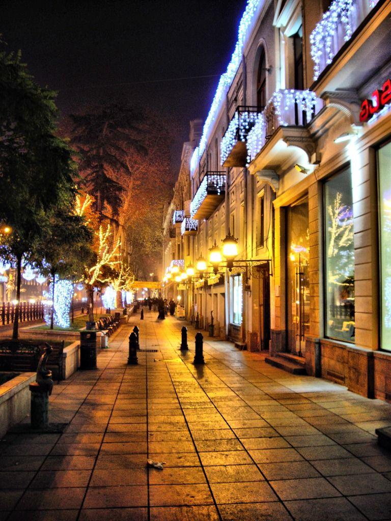 этом фотографии ночной улицы ноября