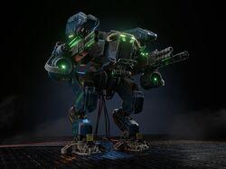Боевой робот (GameReady модель, 4к текстуры)