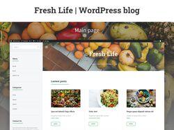 Фуд блог   Fresh Life   WordPress