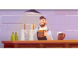 Анимационный ролик для приложения BottleQ