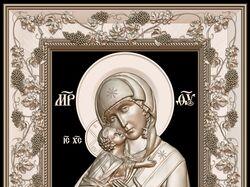 интерпретация-барельеф Владимирской иконы