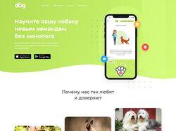 Дизайн лендинга по услугам для собак