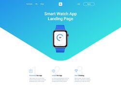 """Верстка лендинга """"Smart Watch App"""""""